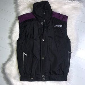 SPYDER - Vintage Kids Nylon Vest Purple Web Sz 14